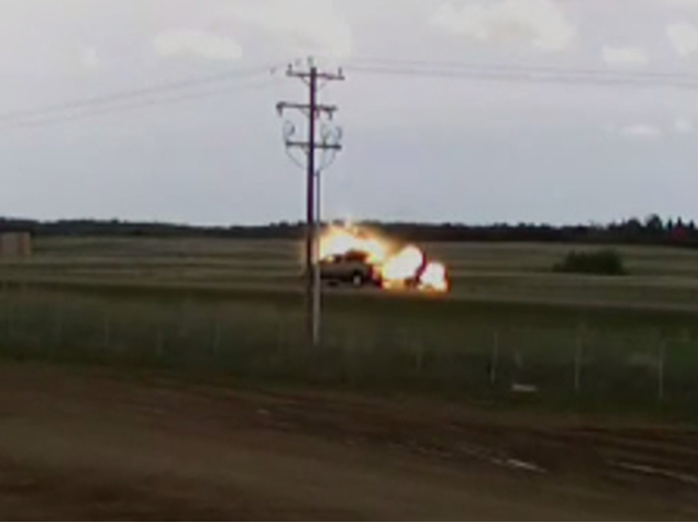 VIDEO: Truck Gets Struck By Lightning While Driving